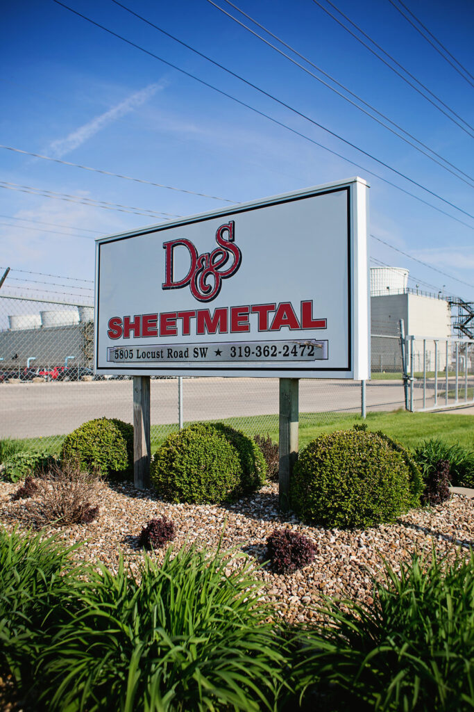D&S Sheetmetal road sign